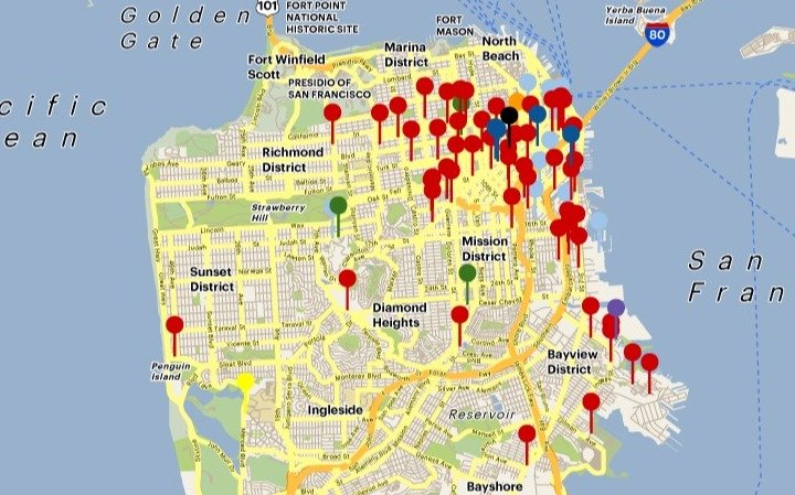 Click to see SF Business Time's Interactive Map